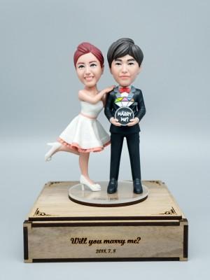 Marry Me <BR>- 웨딩 피규어,커플 피규어,프로포즈 선물,결혼기념일 선물