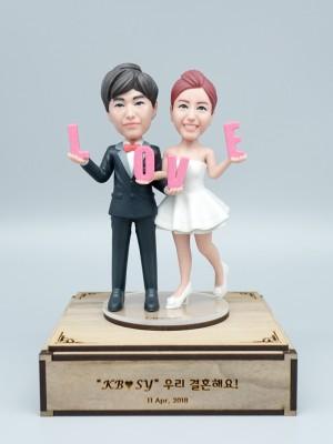 Oh My Love <BR>- 웨딩 피규어,커플 피규어,프로포즈 선물,결혼기념일 선물