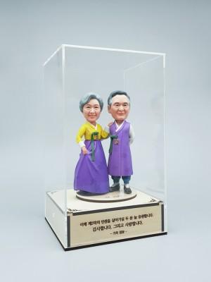 한복 커플 C<BR>- 환갑선물, 칠순선물, 결혼기념일선물, 부모님생신선물,부모님피규어