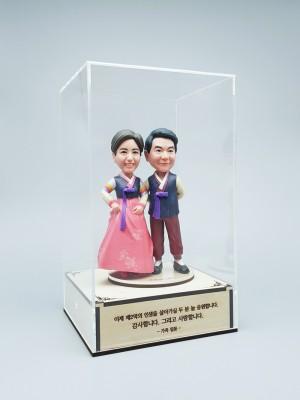 한복 커플 B<BR>- 환갑선물, 칠순선물, 결혼기념일선물, 부모님생신선물,부모님피규어,퇴직선물